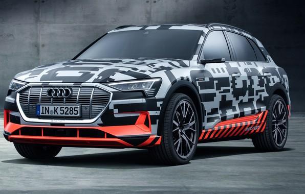 Картинка Audi, Prototype, 2018, электромобиль, E-Tron