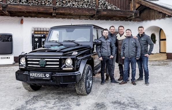 Картинка Mercedes-Benz, мерседес, арнольд шварценеггер, гелендваген, G-Class, Arnold Schwarzenegger, W463