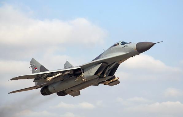 Картинка истребитель, взлёт, MiG-29, МиГ-29, ВВС Сербии