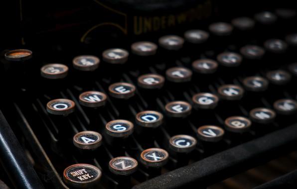 Картинка фон, кнопки, пишущая машинка