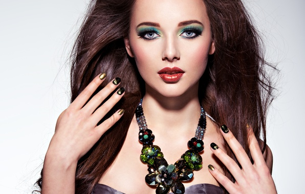 Картинка model, brunette, look, female, make up