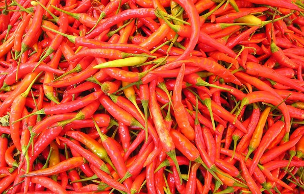 Фото обои hot, food, pepper, vegetable, chili pepper