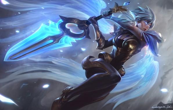 Картинка меч, League of Legends, Dawnbringer Riven Splash
