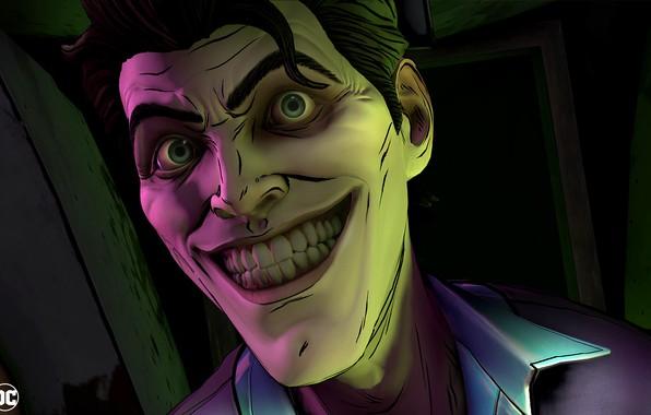 Картинка Игра, Улыбка, Джокер, Зубы, Глаза, Smile, Joker, Eyes, Злодей, Game, DC Comics, Telltale Games, Комиксы, …