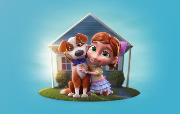 Картинка лето, собака, арт, девочка, будка, детская, Character Logo - Terra nobre, Daniel Linard