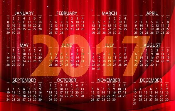 Картинка линии, красный, дизайн, абстракция, полосы, фон, графика, блеск, новый год, вектор, цифры, ярко, календарь, год, …