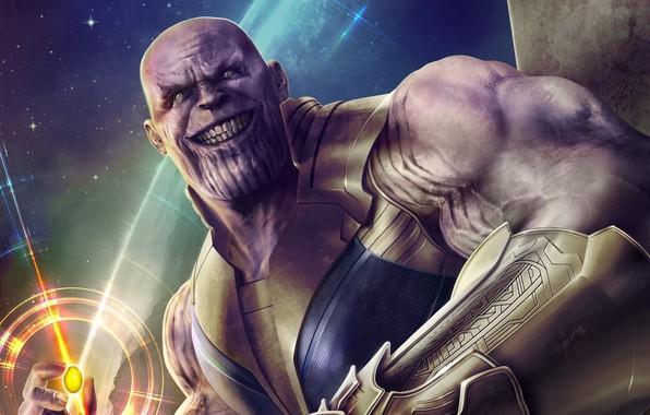 Картинка Улыбка, Smile, Marvel, Злодей, Comics, Марвел, Комиксы, Thanos, Танос, Суперзлодей, Villain, Supervillain, Камень Бесконечности, Камень …