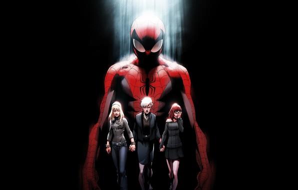 Картинка смерть, spider-man, Ultimate, комикс, человек паук, горе, Marvel Comics