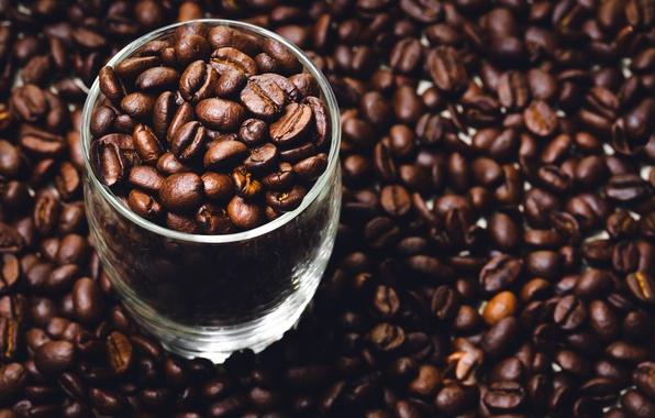 Обои фон, кофе, зёрна