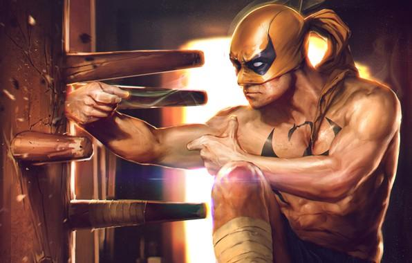 Картинка супергерой, Marvel Comics, Iron Fist, персонаж комиксов, Железный Кулак, Denys Tsiperk