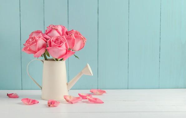 Картинка цветы, розы, букет, лепестки, розовые, бутоны, fresh, pink, flowers, beautiful, petals, roses