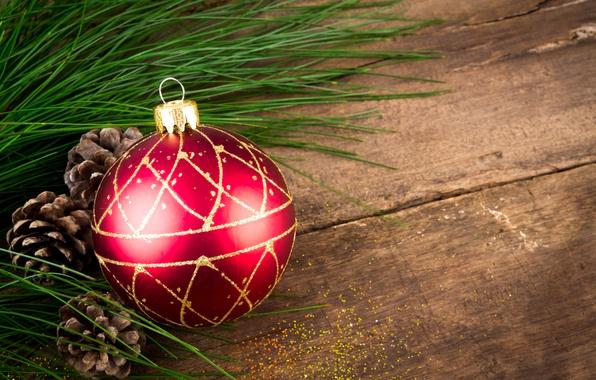 Картинка шар, Новый Год, Рождество, wood, merry christmas, decoration, xmas, fir tree