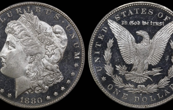 Картинка доллар, США, монета, 1880