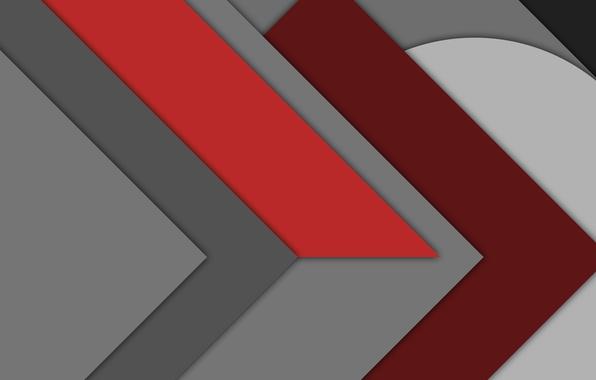 Картинка белый, красный, абстракция, серый, геометрия, design, бордовый, material