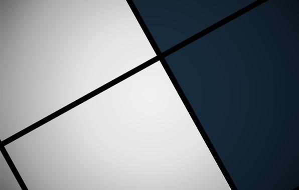 Картинка белый, синий, черный, квадраты, геометрия, design, color, material