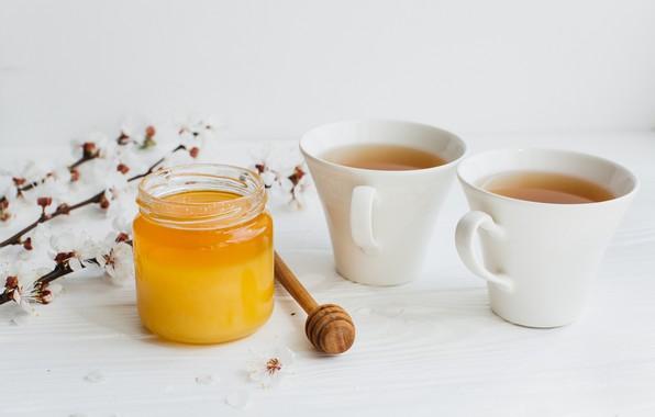 Картинка цветы, чай, мед