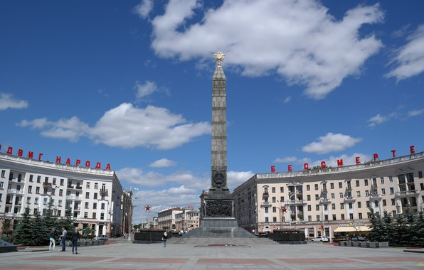 Картинка Площадь, Победа, Минск, Памятник, Площадь Победы, Город герой