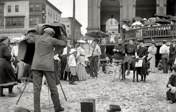 Картинка ретро, люди, отдых, фотограф, США, досуг, 1912-й год