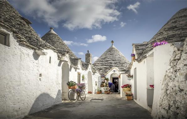 Картинка Италия, Italia, Alberobello, Puglia, Альберобелло, труллы