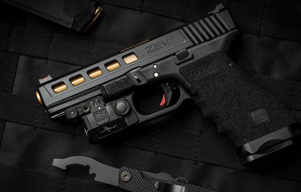 Картинка пистолет, оружие, gun, pistol, weapon, Глок, Glock, кастом, ZEV custom