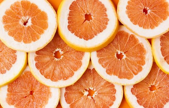 Картинка фон, ломтики, грейпфрут, fruit, orange, grapefruit, slice