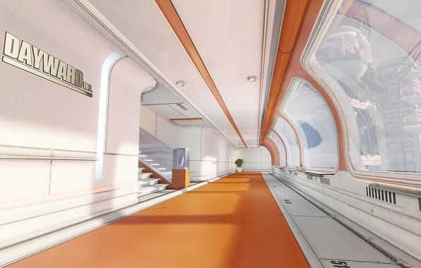 Фото обои дизайн, растение, коридор, Dayward Inc, One-Texture Environment