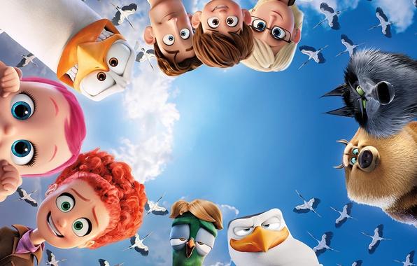 Картинка red, sky, red hair, bird, cloud, wolf, redhead, baby, human, animated film, wing, animated movie, …