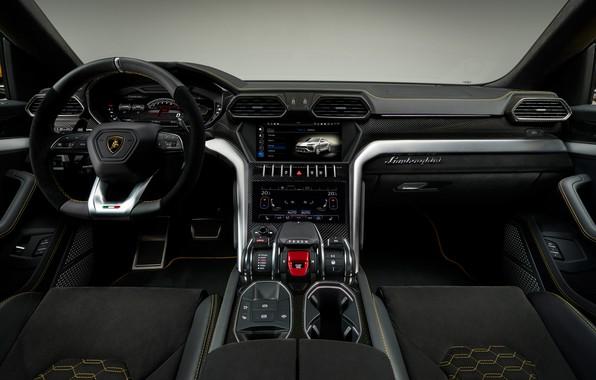 Картинка Lamborghini, салон, 2018, Urus