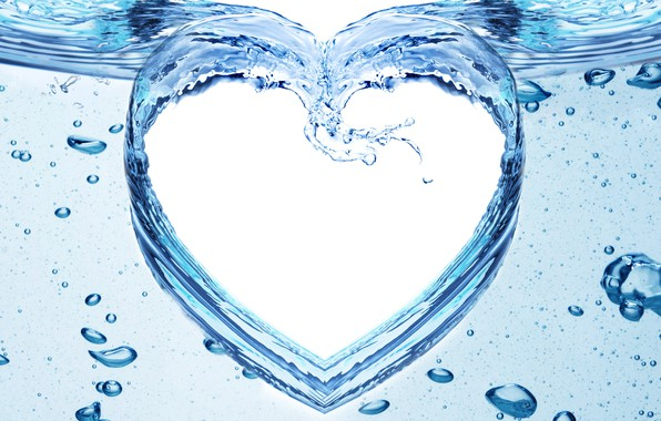 Обои вода, брызги, узор, сердце картинки на рабочий стол, раздел ...