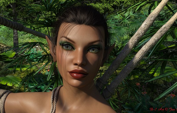 Картинка взгляд, девушка, амазонка