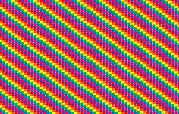 Картинка кубики, полоса, арт, разноцветье