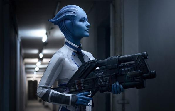 Картинка Girl, Mass Effect, Liara T'Soni, Cosplay