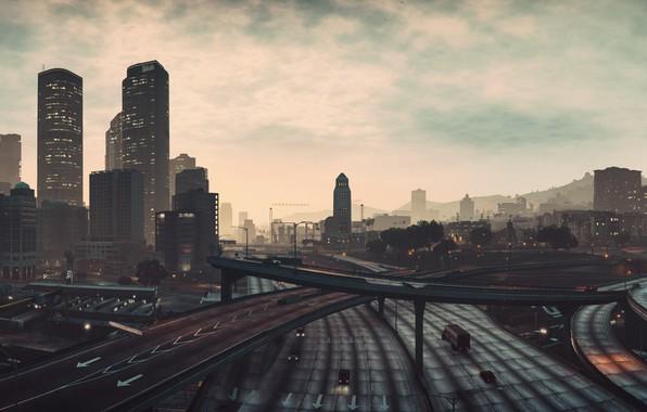 Картинка city, game, street, Grand Theft Auto V, GTA V, GTA 5