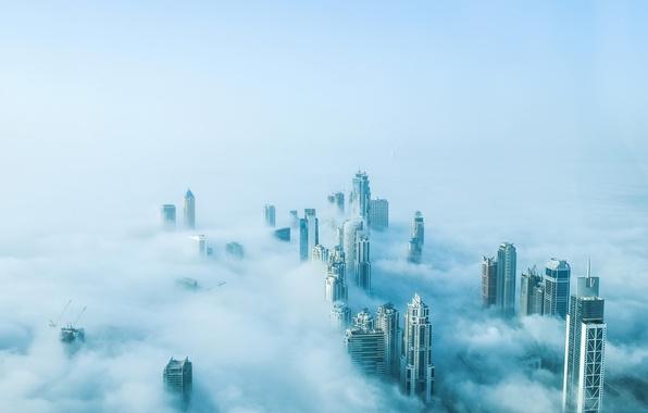 Картинка fog, dubai, mist, burjkhalikfa