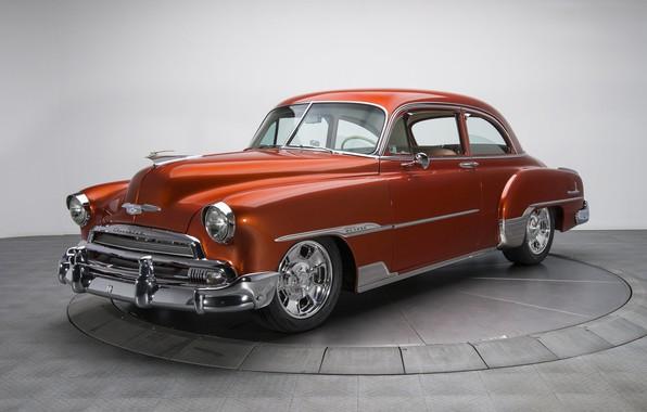Картинка ретро, купе, Chevrolet, Deluxe, 1951, Styleline