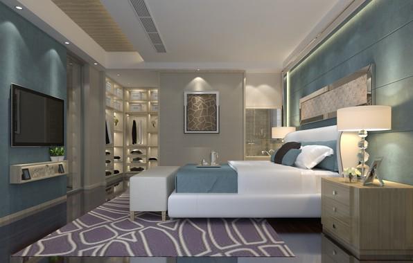 Картинка дизайн, интерьер, спальня, luxury, bedroom