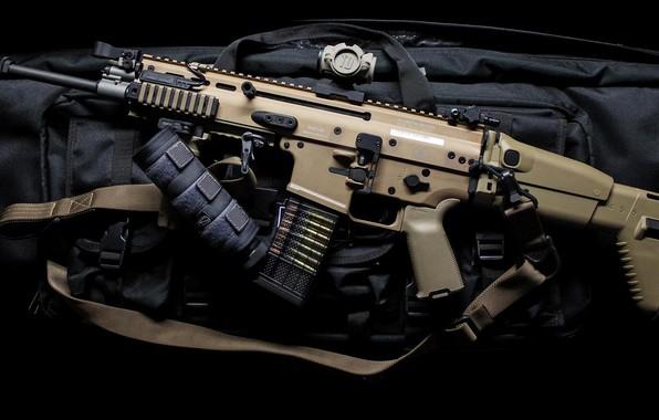 Картинка оружие, автомат, weapon, штурмовая винтовка, SCAR, assaul rifle, SCAR-L