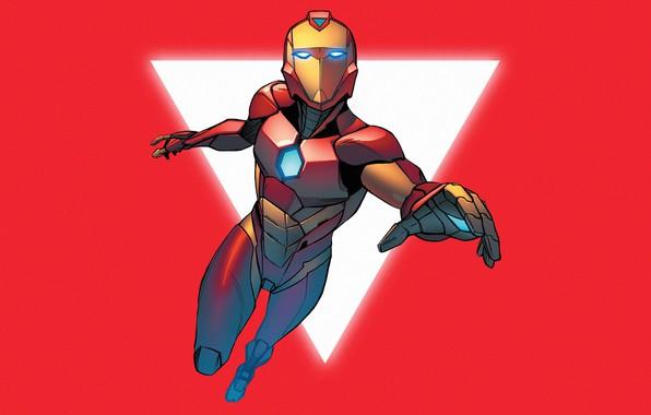 Картинка Красный, Желтый, Костюм, Герой, Маска, Комикс, Red, Супергерой, Hero, Броня, Iron Man, Yellow, Marvel, Comics, …