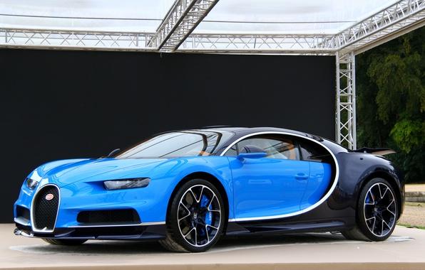 Картинка bugatti, blue, chiron