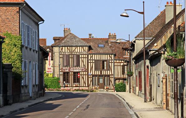Картинка Франция, Дома, Дорога, Улица, Здания, France, Street, Road, Piney, Пине