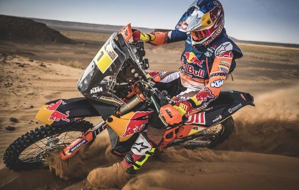 Картинка Спорт, Мотоцикл, Гонщик, Мото, Bike, Rally, Dakar, Дакар, Ралли, Moto, RedBull, Motorbike