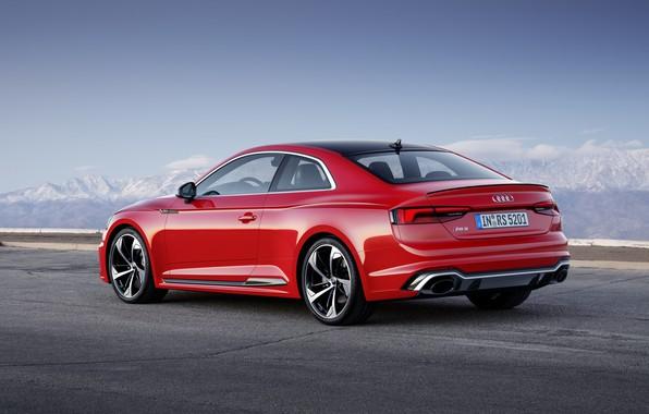 Картинка Audi, German, Red, RS5, 2018, Road, RS, A5
