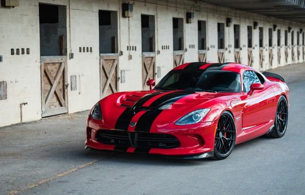 Картинка Dodge, Viper, Black, with, GTS, HRE, Gloss, Lightweight, R101