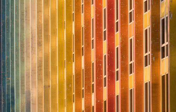 Картинка цвета, город, здание, окна