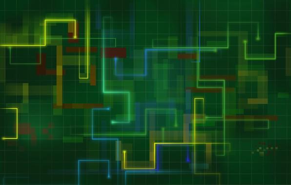 Картинка сетка, цветные линии, ломаные, квадраты прямоугольники