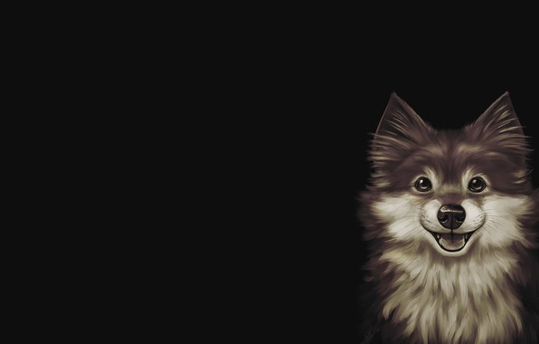 Картинка арт, собачка, пёсик, Sadie, Kris Lewis