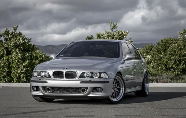 Картинка BMW, Classic, Bavaria, E39, Silver