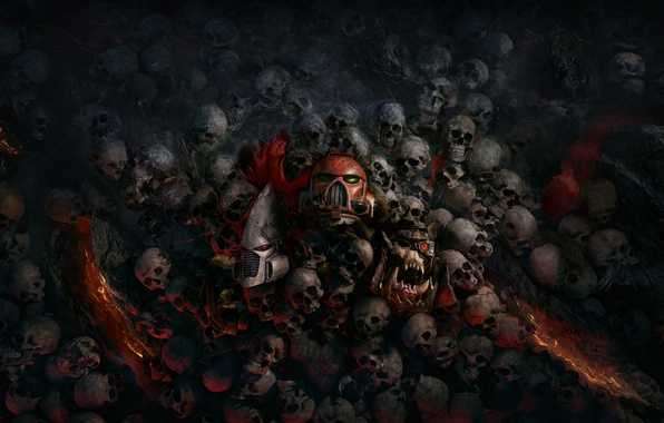 Картинка черепа, Relic Entertainment, Warhammer 40000: Dawn Of War