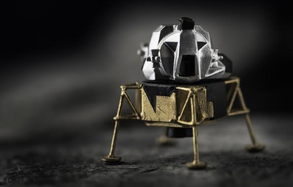 Картинка фон, модель, Moon Lander, Lunar Module