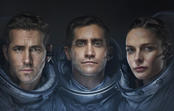 Картинка Girl, Ryan Reynolds, Stars, Space, Galaxy, Jake Gyllenhaal, Men, year, Woman, Horror, Travel, Movie, Film, …